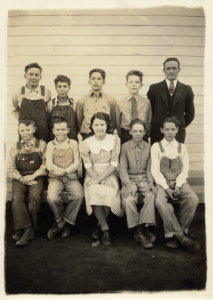 The picture is of my Uncle Darrell and his first class in 1932.